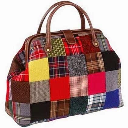 Modelos de bolsas em patchwork