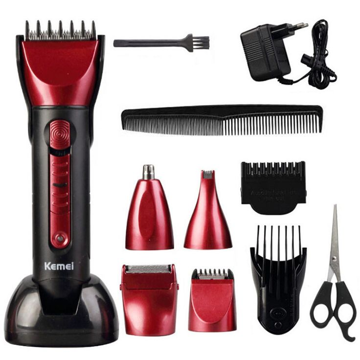 5in1 Waterproof Rechargeable Hair/Beard/Nose Clipper Kit