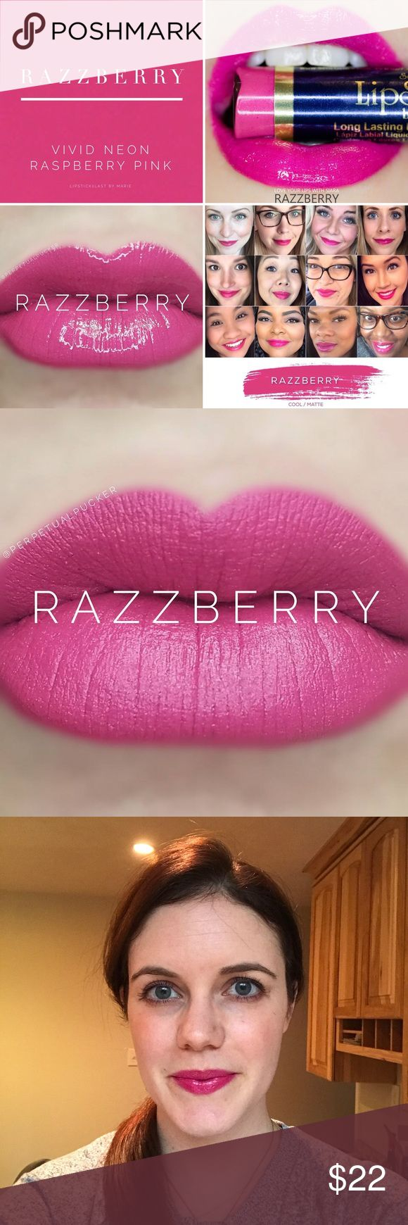 Razzberry LipSense Kiss proof, smudge proof, waterproof long-lasting lip color. Lasts 4-18 hours. Should be used with Glossy gloss also available in my boutique ($20). No tax! Senegence Makeup Lipstick