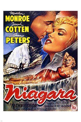 NIAGARA MOVIE POSTER Marilyn Monroe BLONDE MOVIE STAR 24X36 VINTAGE Sexy