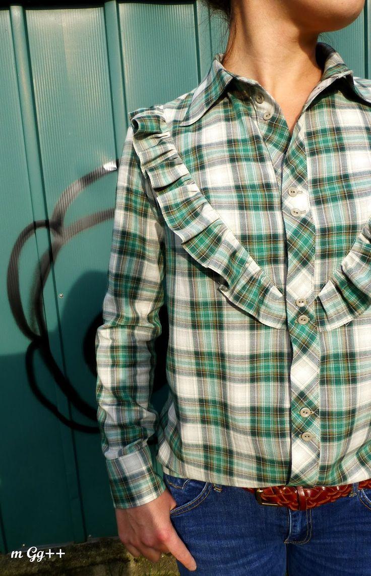 Une Chemise avec des Carreaux et des Volants... (Patron maison) par m Gg++