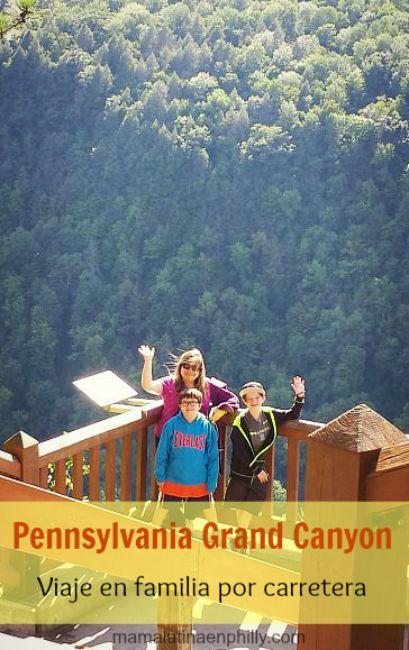 Nuestra visita al Gran Canyon of Pennsylvania, un viaje en familia y por carretera.