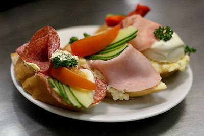 Chlebíčky - Czech open sandwiches | photo researched by http://www.iconhotel.eu/en/dining-and-lounging