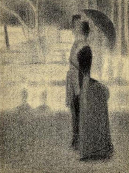 Georges Seurat. Le couple. Etude pour La Grande Jatte 1884