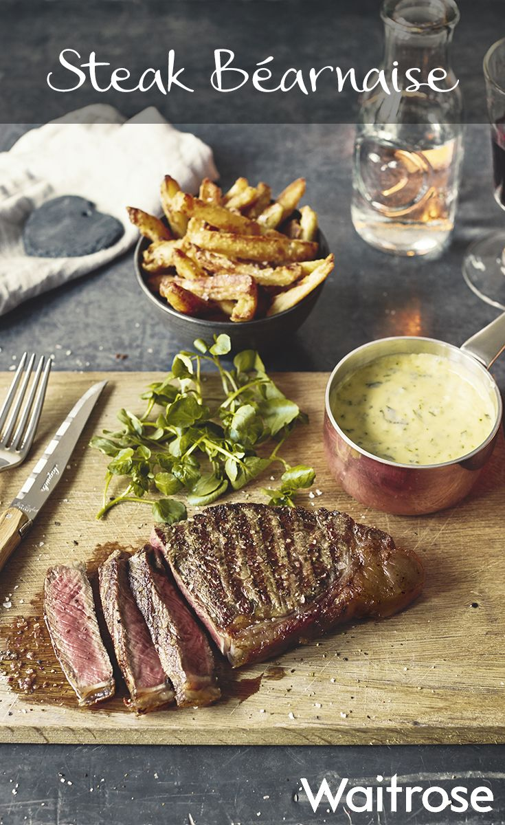 Try our classic steak béarnaise recipe for Valentine's Day and serve with homemade chips and a crisp green salad. Get the recipe on the Waitrose website.