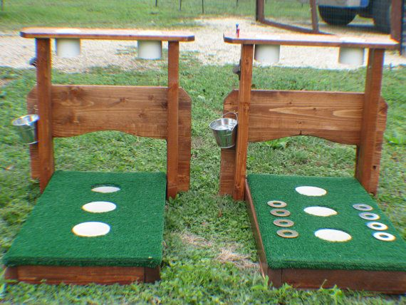 3 Hole Washer Board with Backstop & Drink Holders