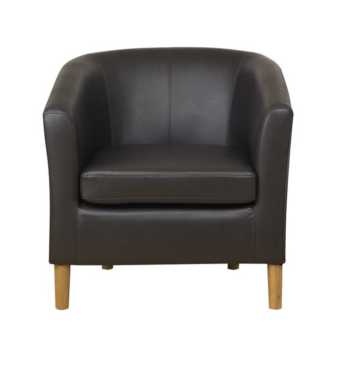 Richmond Tub #Chair in Brown Bonded #Leather £151.30
