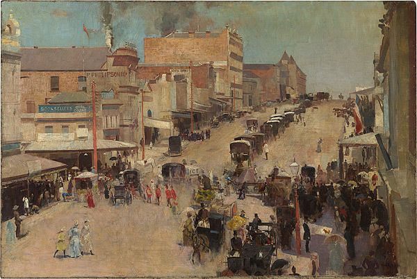 Tom Roberts - Allegro con brio - Bourke Street West