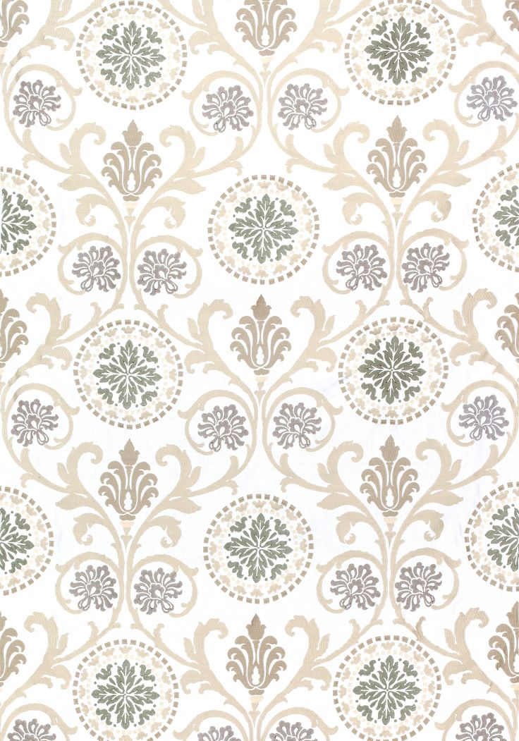 BANYAN EMBROIDERY, Grey and Neutral, W764101, Collection Caravan from Thibaut