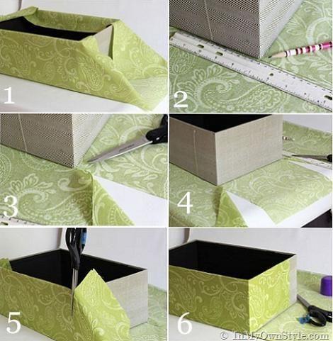 Cómo forrar cajas