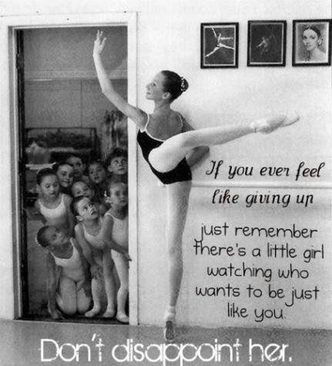 As a little girl I remember looking up to the strong ballerinas, in my dance studio. They would be practicing in the other room, and the little ones would be crowding around the door, whispering about how amazing it would be to do that.  This too apply to life situation. Pickup urself. U never know you mayb d envy of others. Always hum a happy song in ur heart :) You will be happy always ;p