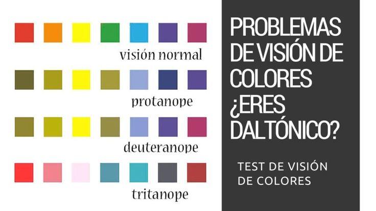 Problemas de visión de colores. ¿Eres daltónico? Test de visión de colores