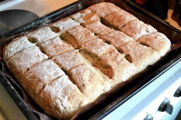 Långjäst bröd med färsk fänkål