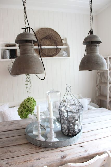 Light fixtures - nice!  Mooi! - Woonkamer  Pinterest  White Washed ...