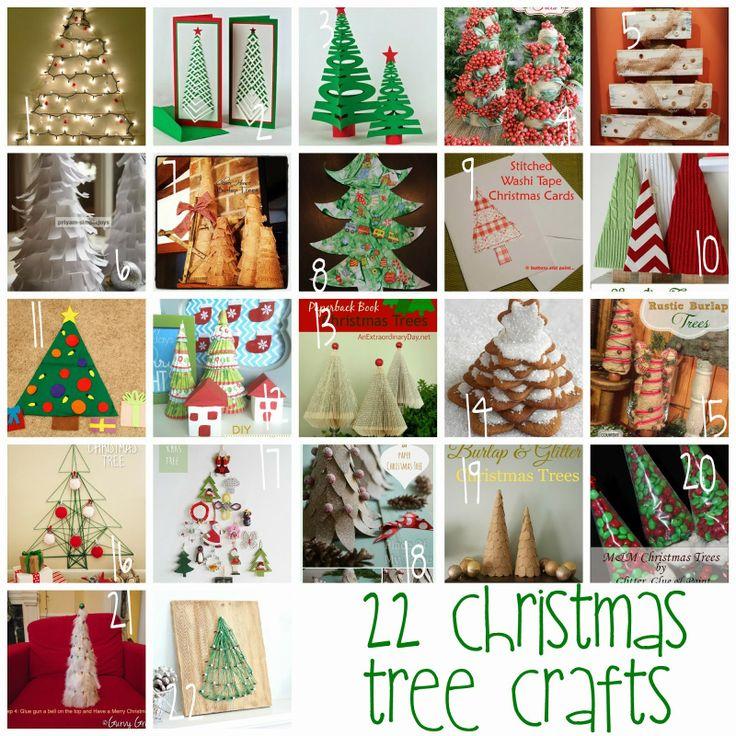 Block Party and 22 Christmas Tree Crafts - Rae Gun Ramblings