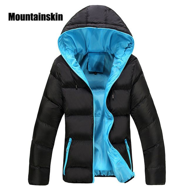 Offer Today $19.51, Buy Mountainskin 5XL Men Winter Casual New Hooded Thick Padded Jacket Zipper Slim Men And Women Coats Men Parka Outwear Warm EDA020