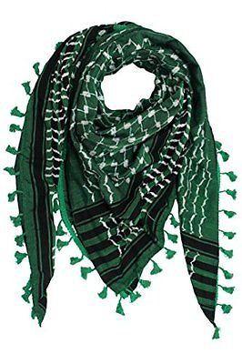 HIRBAWI Palestine dark green & white KUFiYA by HirbawiKeffiyeh
