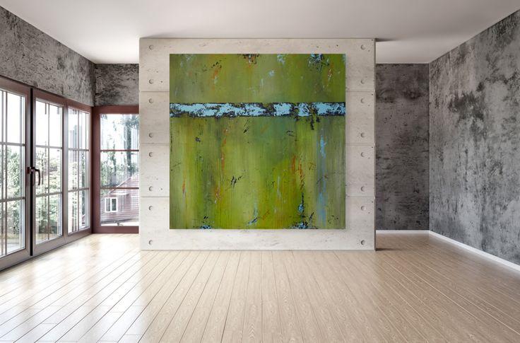 Arte de pared grande  contemporáneo moderno 48 x 48 pulgadas