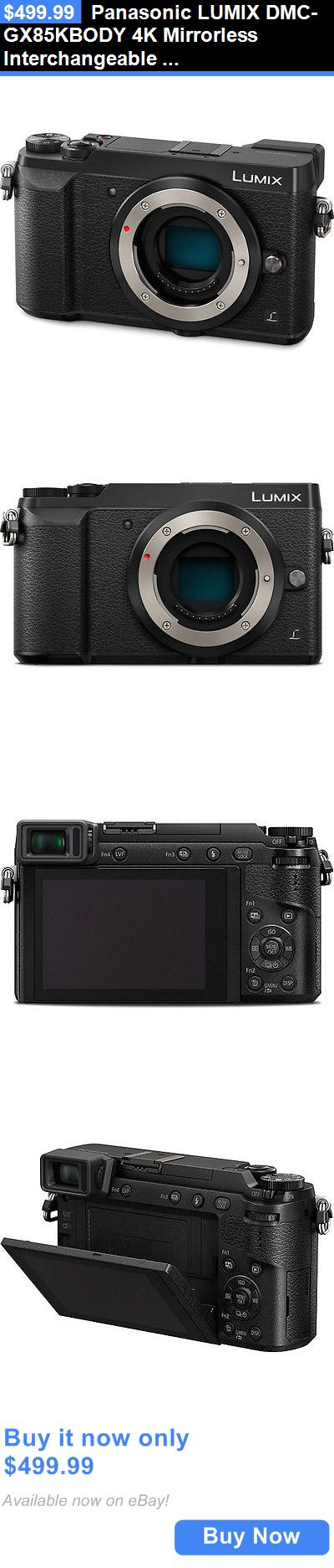 photo and video: Panasonic Lumix Dmc-Gx85kbody 4K Mirrorless Interchangeable Lens Camera (Black) BUY IT NOW ONLY: $499.99