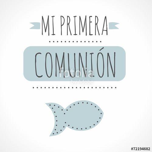 Vector: MI PRIMERA COMUNIÓN