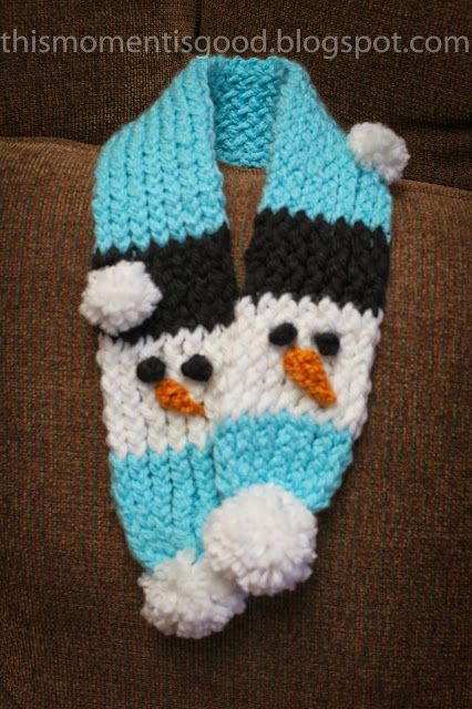 Loom Knit Baby Hat Tutorial : Loom knit snowman scarf pattern hat thismomentisgood