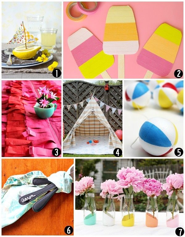 DIY Summer Craft Projects for the Home #diy #summer #crafts