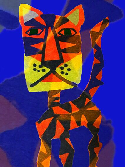 Warning, tiger, Tigre. Postcard