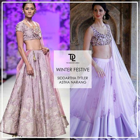 Lavender wedding looks by Siddartha Tytler and Astha Narang #india #fashion #wedding #indianwedding #festivewear #lehenga