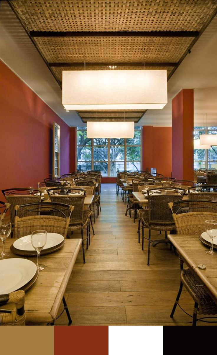 Restaurant interior design color schemes build