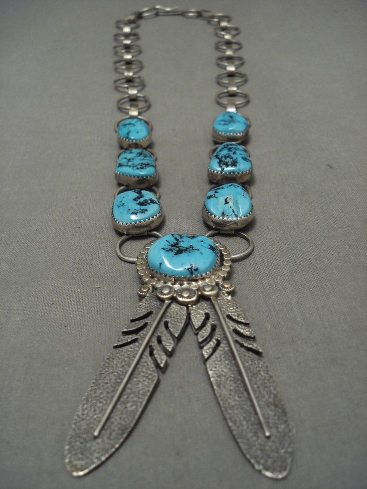 MUSEUM LONG AND BIG VINTAGE NAVAJO SLEEPING BEAUTY TURQUOISE SILVER NECKLACE | Jewelry & Watches, Ethnic, Regional & Tribal, Native American | eBay!