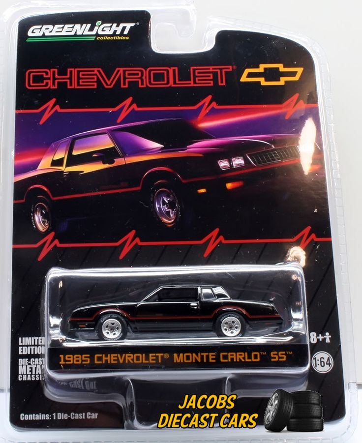 1:64 GREENLIGHT 1983 Chevrolet Monte Carlo SS * Black ...