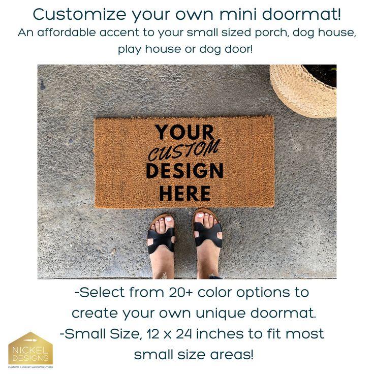 Custom mini doormat 24 inch small doormat monogram