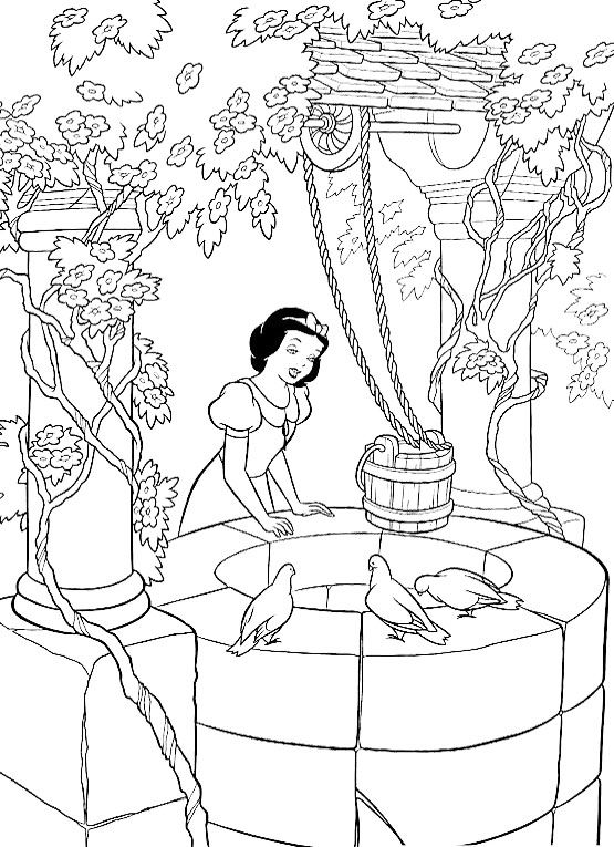 Snow White Printable Coloring Pages For Kids Picture