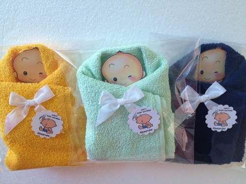 bebés de toalla baby shower recuerdo economicos bautizo