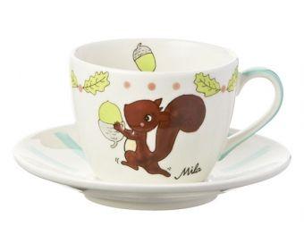 Mila Cappuccino Tasse Nick Nuss von Mila Design - Mein Mila Laden - Der Online-Shop