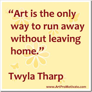 twyla tharp (hate the background though) love the quote