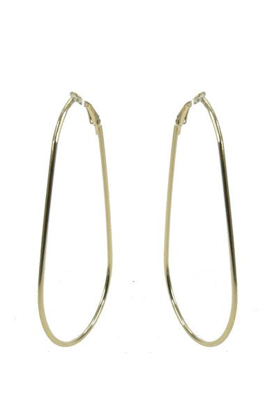 Tear 8 Hoop Earring - Gold $27.95 #leethal #accessories #fashion