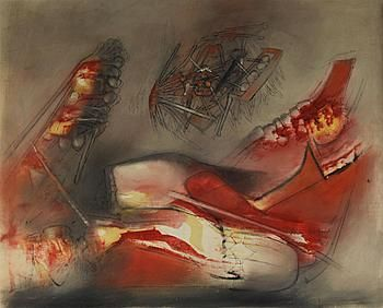 Roberto Matta - Untitled (1957), oil on canvas