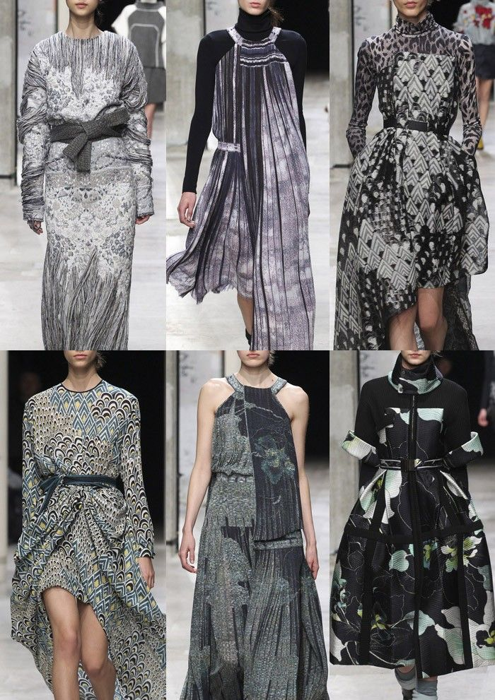 LEONARD I Distressed Fabrications – Jacquard Pattern Texture – Delicate Distress Print – Worn Areas – Merging Pattern Marks – Geometric Allovers – Oriental Style Florals – Detailed and Unfinished Areas I PARIS Fashion Week