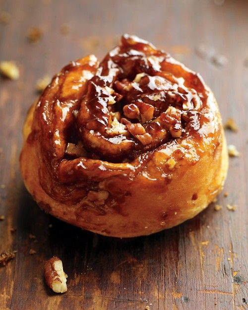 Simple brown sugar and pecan roll