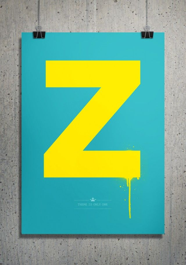 Z by Puldefranck #nordicdesigncollective #yellow #trend #trendcolor #trendcolour #easteryellow #easter #puldefranck #poster #print #z #alphabet #zeta #turquois #yellow #frame #wallart #homedecor #interiordesign