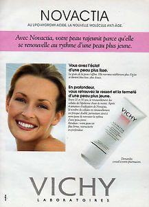 1995 LABORATOIRES VICHY Anti âge NOVACTIA - estelle lefebure