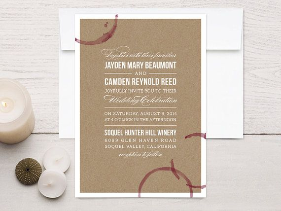 best 25 winery wedding invitations ideas on pinterest wedding table numbers wedding table plans and table numbers for wedding - Winery Wedding Invitations