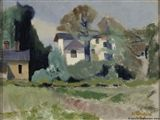 Otto Makila - White House, 1948, Painting: oil on...
