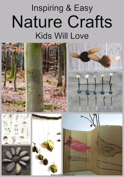 inspiring and easy nature crafts for kids @ The Crafty Crow
