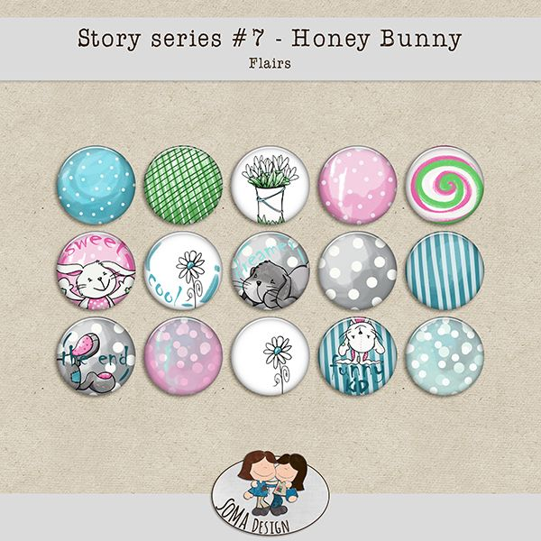 SoMa Design: Honey Bunny Flairs