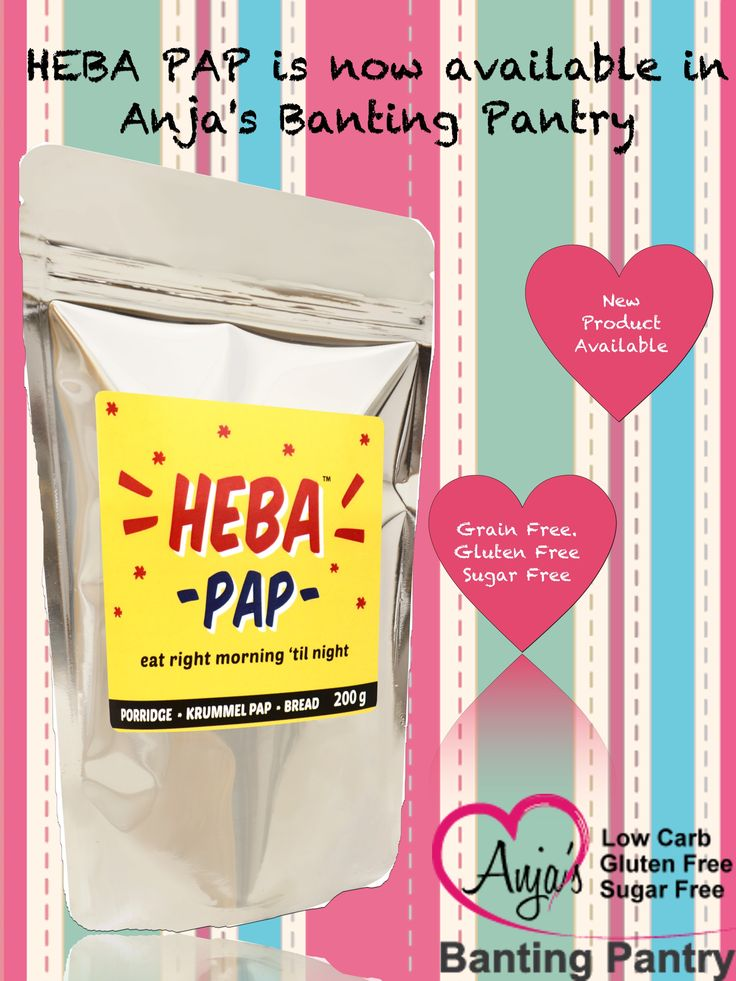 We have an amazing new product available in stores nationwide.  Buy HEBA PAP in store or online http://www.anjasbantingpantry.co.za/…/pro…/172-heba-pap-200g