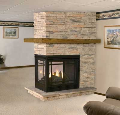 Tall pines farm stoves and fireplaces 3 sided for the for 4 sided fireplace