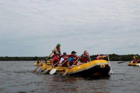 Zambia Educational - Zambezi river rafting with Saf Par.