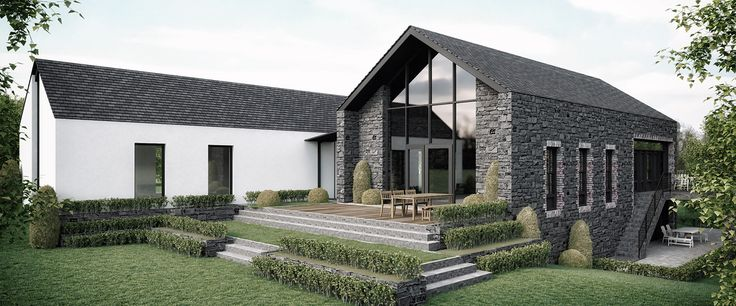 268 best irish uk rural house designs images on for Open plan house designs ireland